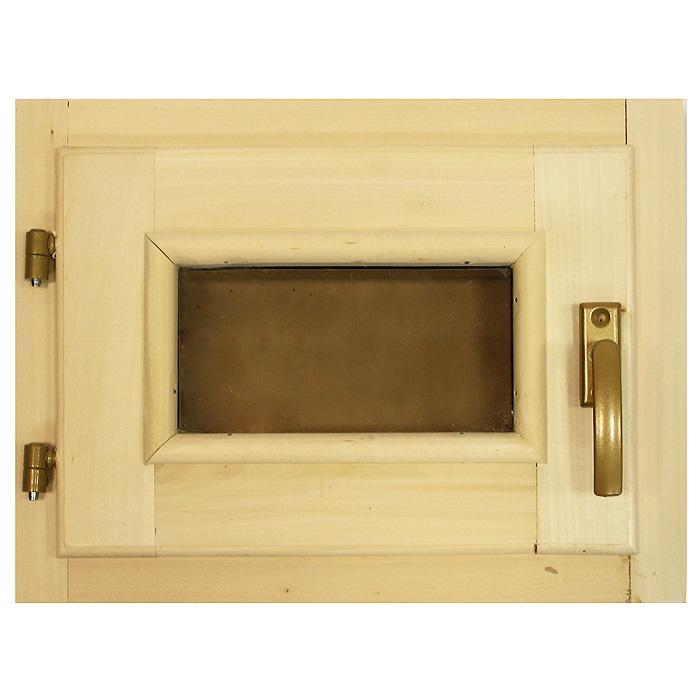 Форточка со стеклопакетом Банные штучки, 40 х 30 см32006Горизонтальная форточка со стеклопакетом Банные штучки изготовлена из липы и имеет вставку из стекла. В комплект входит: - Створка с однокамерным стеклопакетом (2 стекла); - Коробка из липы; - Петли; - 2 шурупа; - Ручка-затвор. Форточка уже собрана и готова к использованию, вам только достаточно прикрутить ручку и установить стеклопакет в проем. Окна и форточки в парной используют для быстрого выветривания влаги в помещении после банных процедур. Это продлевает срок службы деревянной обшивки, снижается риск образования плесени и грибка внутри помещения. Характеристики:Материал: дерево (липа), металл, стекло. Размер форточки: 40 см х 30 см. Толщина: 6 см. Размер стеклянного окошка: 20 см х 10 см. Артикул: 32006.