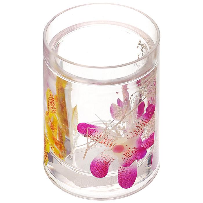 Стаканчик Орхидея337-01Стаканчик Орхидея, изготовленный из прозрачного пластика, отлично подойдет для вашей ванной комнаты. Внутри стакана прозрачный гелевый наполнитель с фиолетовыми и желтыми орхидеями.Стаканчик создаст особую атмосферу уюта и максимального комфорта в ванной. Характеристики: Материал: пластик, акрил, гелевый наполнитель. Цвет: белый, фиолетовый, желтый, красный. Диаметр стаканчика по верхнему краю: 7,3 см. Высота стаканчика: 10,5 см. Производитель: Швеция. Изготовитель: Китай. Размер упаковки: 8,5 см х 8,5 см х 12,5 см. Артикул: 337-01.