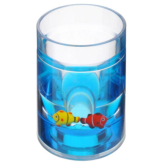 Стаканчик Рыбки850-31Стаканчик Рыбки, изготовленный из прозрачного пластика, отлично подойдет для вашей ванной комнаты. Внутри стакана синий гелиевый наполнитель с рыбками желтого и красного цветов.Стаканчик создаст особую атмосферу уюта и максимального комфорта в ванной. Характеристики: Материал: пластик, акрил, гелиевый наполнитель. Цвет: синий, желтый, красный. Диаметр стаканчика по верхнему краю: 7 см. Высота стаканчика: 11 см. Производитель: Швеция. Изготовитель: Китай. Размер упаковки: 8 см х 7,5 см х 11 см. Артикул: 850-31.