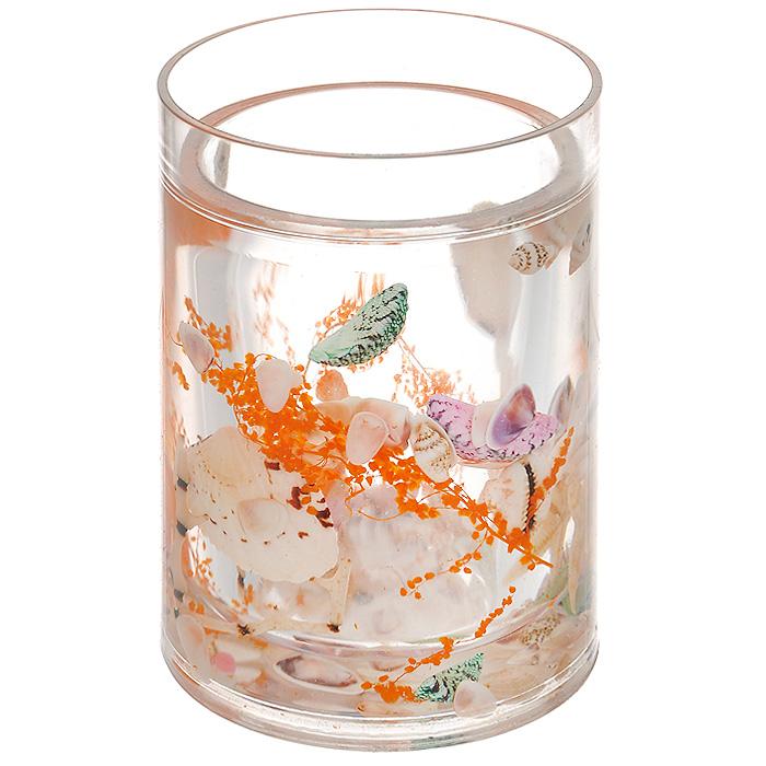 Стаканчик Морское дно339-01Стаканчик Морское дно, изготовленный из прозрачного пластика, отлично подойдет для вашей ванной комнаты. Внутри стакана прозрачный гелевый наполнитель с морскими звездами, ракушками и веточками.Стаканчик создаст особую атмосферу уюта и максимального комфорта в ванной. Характеристики: Материал: пластик, акрил, гелевый наполнитель. Цвет: белый, оранжевый, зеленый. Диаметр стаканчика по верхнему краю: 7,3 см. Высота стаканчика: 10,5 см. Производитель: Швеция. Изготовитель: Китай. Размер упаковки: 8,5 см х 8,5 см х 12,5 см. Артикул: 339-01.