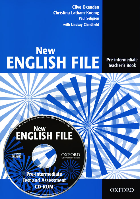New English File: Pre-Intermediate: Teacher's Book (+ CD-ROM) степлеры канцелярские veld co степлер