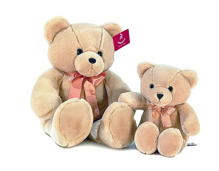 Мягкая игрушка Aurora Медведь, цвет: кремовый, 56 см малышарики мягкая игрушка собака бассет хаунд 23 см