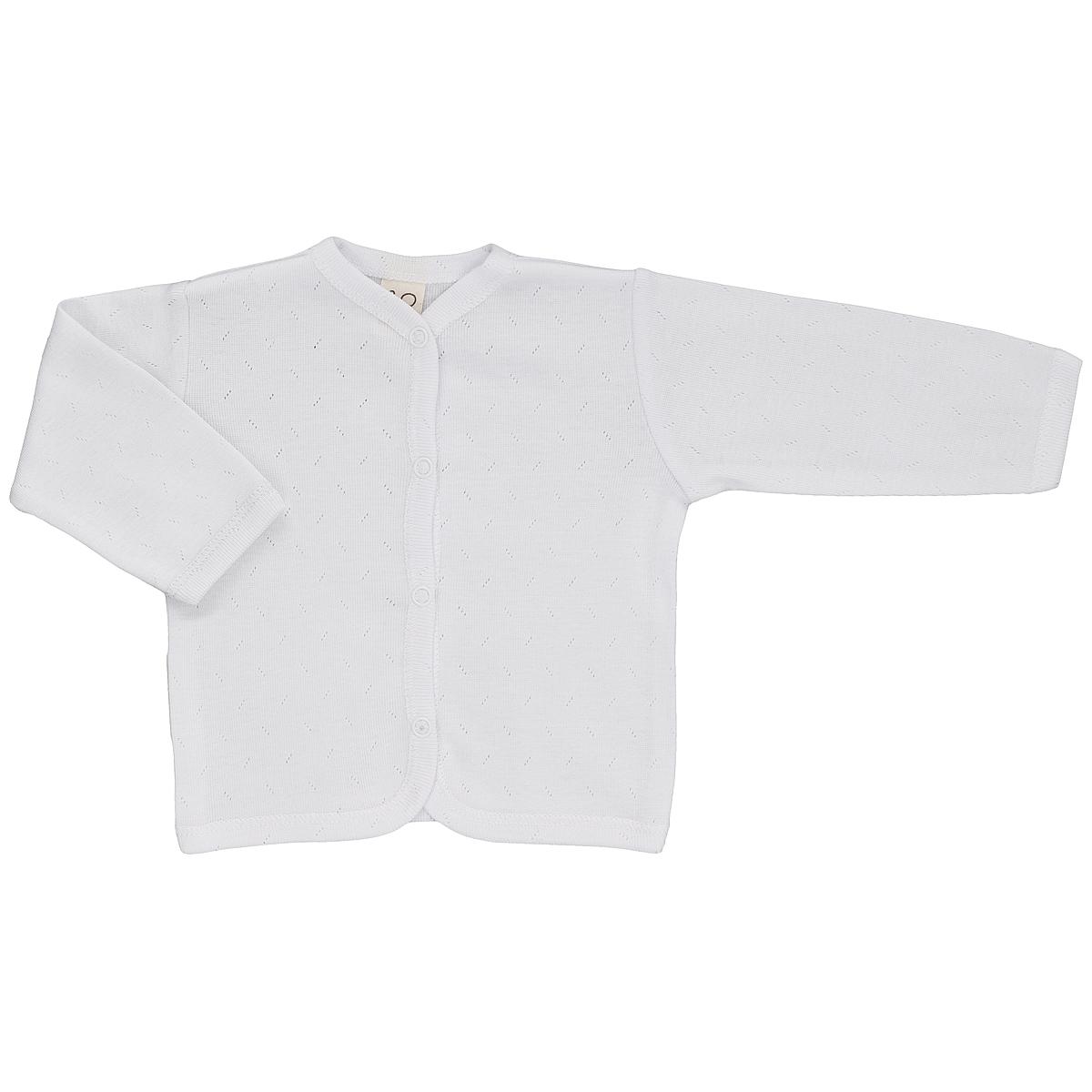 Кофточка детская Lucky Child Ажур, цвет: белый. 0-7. Размер 80/86