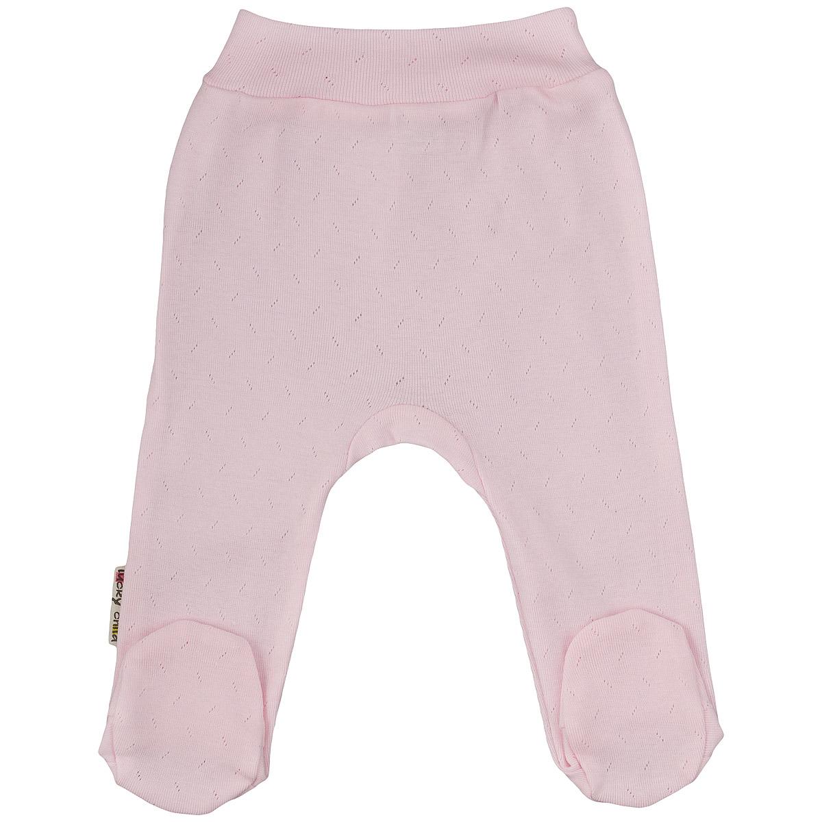 Ползунки на широком поясе Lucky Child Ажур, цвет: розовый. 0-11. Размер 68/74