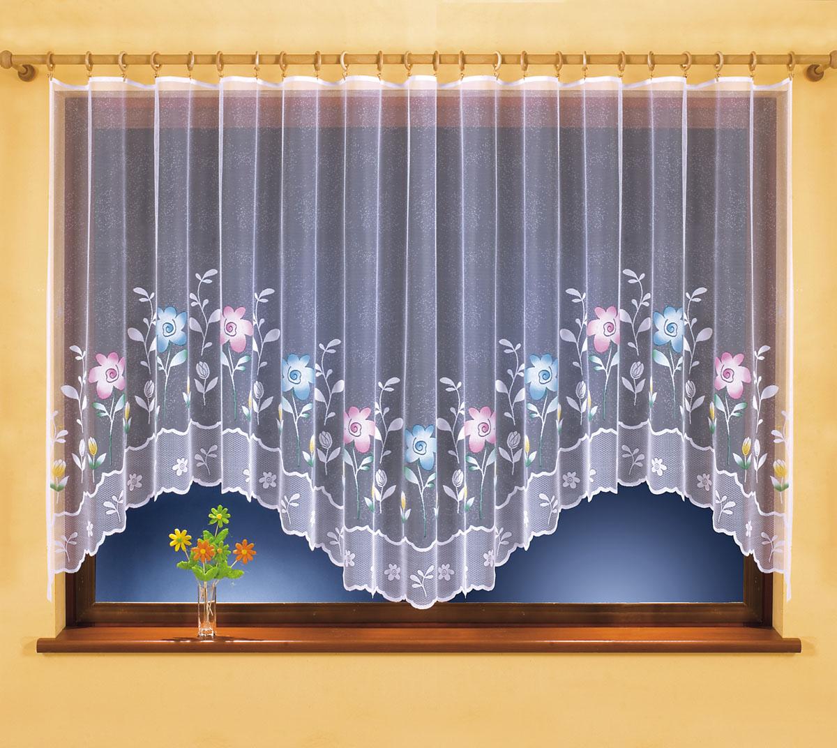 Гардина Martina, на ленте, цвет: белый, высота 150 см630776Воздушная гардина Martina, изготовленная из полиэстера белого цвета, станет великолепным украшением любого окна. Оригинальный дизайн и красочный цветочный рисунок привлекут к себе внимание и органично впишутся в интерьер комнаты. В гардину вшита шторная лента для собирания в сборки. Характеристики:Материал: 100% полиэстер. Размер упаковки:27 см х 34 см х 2,5 см. Артикул: 630776.В комплект входит:Гардина - 1 шт. Размер (Ш х В): 400 см х 150 см. Фирма Wisan на польском рынке существует уже более пятидесяти лет и является одной из лучших польских фабрик по производству штор и тканей. Ассортимент фирмы представлен готовыми комплектами штор для гостиной, детской, кухни, а также текстилем для кухни (скатерти, салфетки, дорожки, кухонные занавески). Модельный ряд отличает оригинальный дизайн, высокое качество. Ассортимент продукции постоянно пополняется.