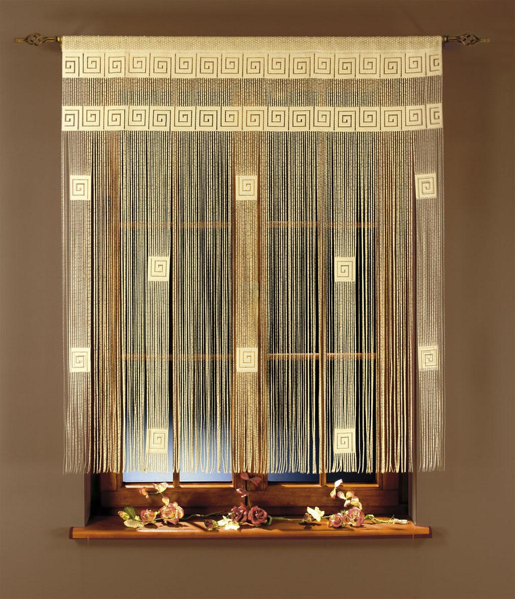 Гардина-лапша Ira, на кулиске, цвет: кремовый, высота 160 см663354Гардина-лапша Ira, изготовленная из полиэстера кремового цвета, станет великолепным украшением окна, дверного проема и прекрасно послужит для разграничения пространства. Необычный дизайн и яркое оформление привлекут внимание и органично впишутся в интерьер.Гардина-лапша оснащена кулиской для крепления на круглый карниз. Характеристики:Материал: 100% полиэстер. Цвет: кремовый. Высота кулиски: 6 см. Размер упаковки:27 см х 38 см х 6 см. Артикул: 663354. В комплект входит: Гардина-лапша - 1 шт. Размер (ШхВ): 270 см х 160 см. Фирма Wisan на польском рынке существует уже более пятидесяти лет и является одной из лучших польских фабрик по производству штор и тканей. Ассортимент фирмы представлен готовыми комплектами штор для гостиной, детской, кухни, а также текстилем для кухни (скатерти, салфетки, дорожки, кухонные занавески). Модельный ряд отличает оригинальный дизайн, высокое качество. Ассортимент продукции постоянно пополняется.