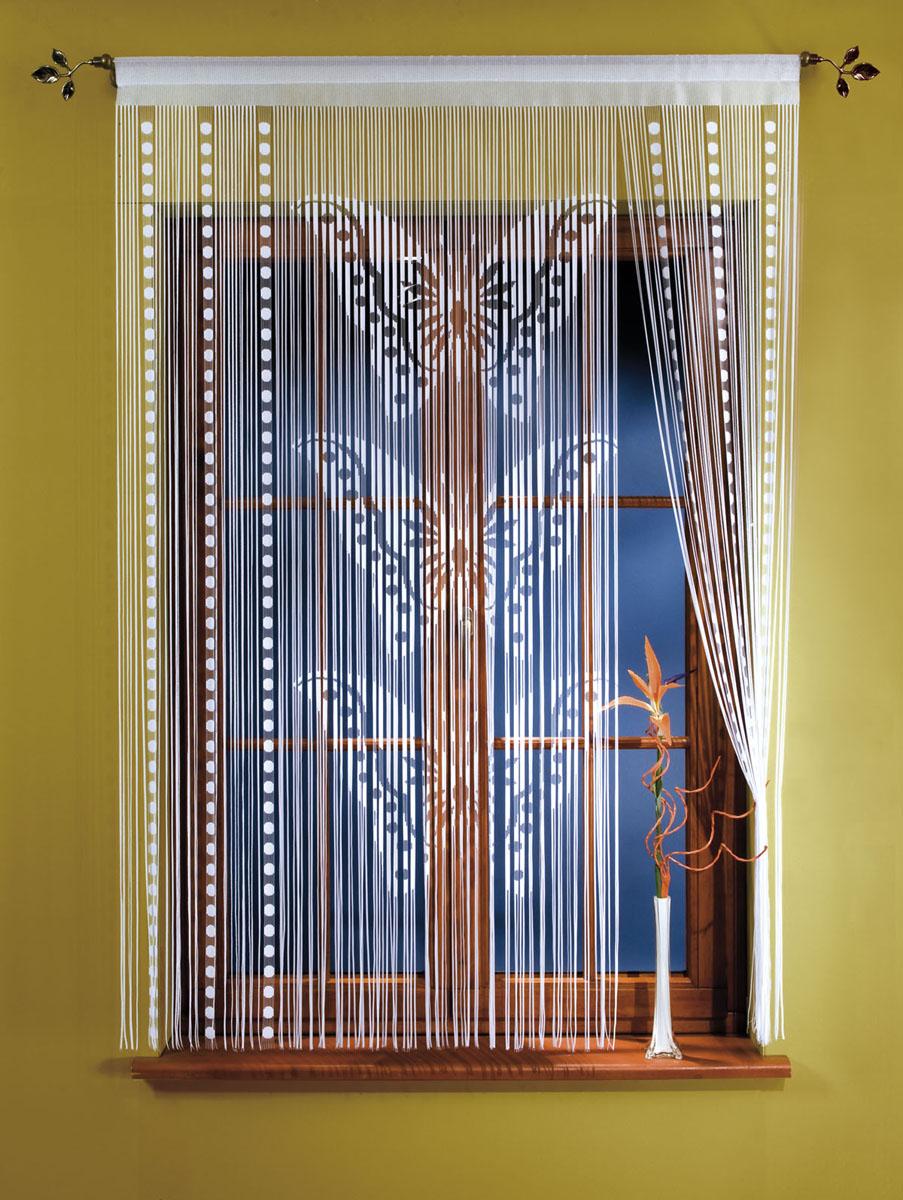 Гардина-лапша Motyle, на кулиске, цвет: белый, высота 150 см667260Гардина-лапша Motyle, изготовленная из полиэстера белого цвета, станет великолепным украшением окна, дверного проема и прекрасно послужит для разграничения пространства. Гардина оформлена мелкой бахромой и изображением бабочек. Необычный дизайн и яркое оформление привлекут внимание и органично впишутся в интерьер. Гардина-лапша оснащена кулиской для крепления на круглый карниз. Характеристики:Материал: 100% полиэстер. Цвет: белый. Высота кулиски: 5 см. Размер упаковки:26 см х 36 см х 3 см. Артикул: 667260.В комплект входит: Гардина-лапша - 1 шт. Размер (ШхВ): 150 см х 150 см. Фирма Wisan на польском рынке существует уже более пятидесяти лет и является одной из лучших польских фабрик по производству штор и тканей. Ассортимент фирмы представлен готовыми комплектами штор для гостиной, детской, кухни, а также текстилем для кухни (скатерти, салфетки, дорожки, кухонные занавески). Модельный ряд отличает оригинальный дизайн, высокое качество. Ассортимент продукции постоянно пополняется.