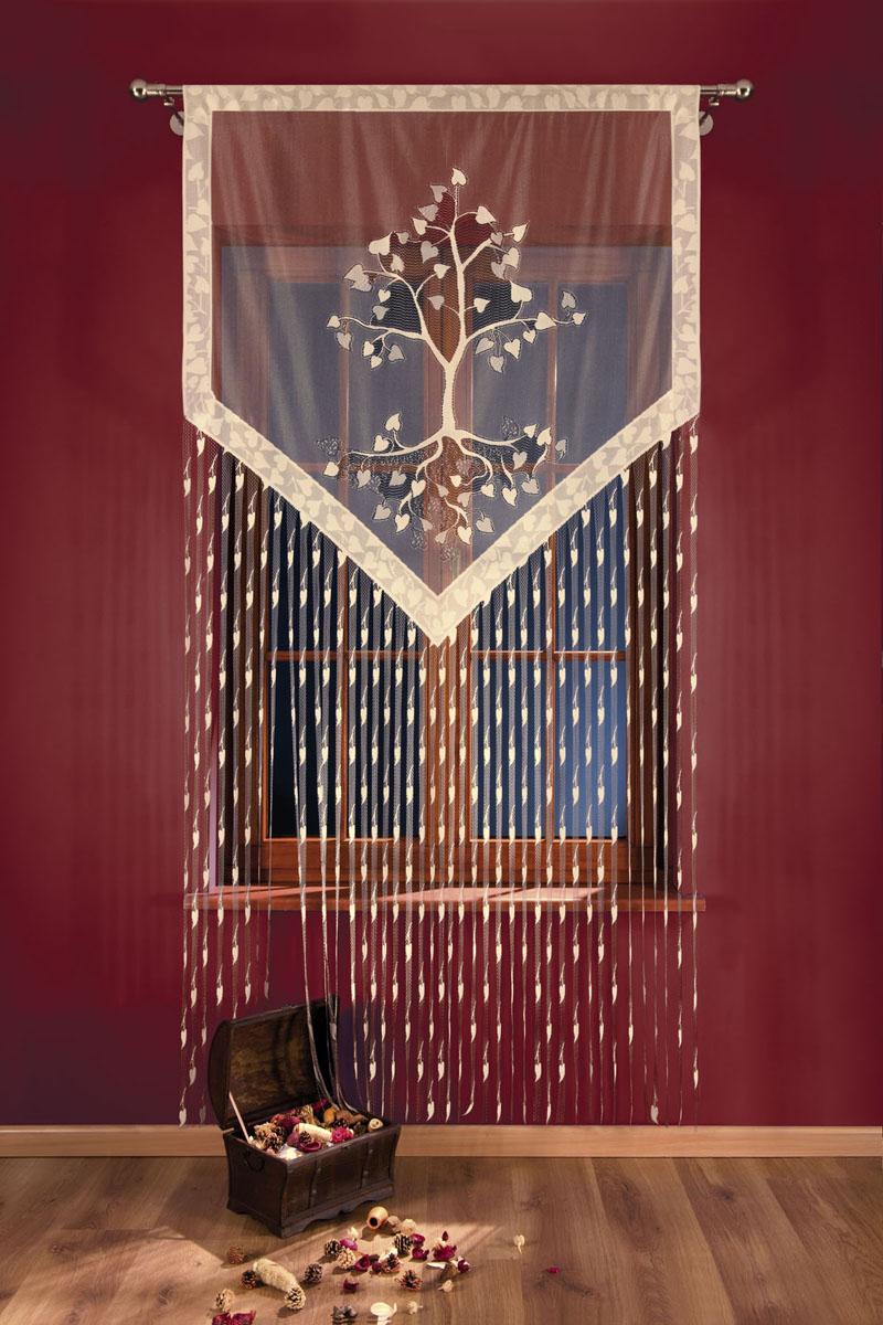 Гардина-лапша Wisan, на кулиске, цвет: серо-бежевый, высота 250 см691401Гардина-лапша Wisan, изготовленная из полиэстера серо-бежевого цвета, станет великолепным украшением любого окна. Гардина-лапша отличается от других видов гардин тем, что имеет основание, на которое крепится бахрома. Это отличное решение как для гардины на окно, так и для портьеры в дверной проем или просто занавески для разграничения пространства в комнате. Тонкое плетение и рисунок в виде лепестков привлекут к себе внимание и органично впишутся в интерьер комнаты. Гардина оснащена кулиской для крепления на круглый карниз. Характеристики:Материал: 100% полиэстер. Цвет: серо-бежевый. Высота кулиски: 4,5 см. Размер упаковки:27 см х 36 см х 2 см. Артикул: 691401.В комплект входит:Гардина-лапша - 1 шт. Размер (ШхВ): 120 см х 250 см.Фирма Wisan на польском рынке существует уже более пятидесяти лет и является одной из лучших польских фабрик по производству штор и тканей. Ассортимент фирмы представлен готовыми комплектами штор для гостиной, детской, кухни, а также текстилем для кухни (скатерти, салфетки, дорожки, кухонные занавески). Модельный ряд отличает оригинальный дизайн, высокое качество. Ассортимент продукции постоянно пополняется.УВАЖАЕМЫЕ КЛИЕНТЫ!Обращаем ваше внимание на цвет изделия. Цветовой вариант гардины-лапши, данной в интерьере, служит для визуального восприятия товара. Цветовая гамма данной гардины-лапши представлена на отдельном изображении фрагментом ткани.