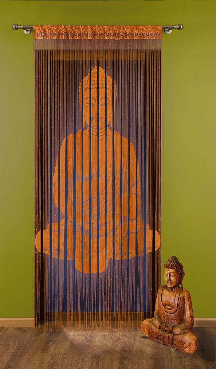 Гардина-лапша Budda, на кулиске, цвет: оранжевый, высота 240 см704149Воздушная гардина-лапша Budda, изготовленная из полиэстера оранжевого цвета, станет великолепным украшением любого окна. Тонкое плетение, оригинальный принт привлекут к себе внимание и органично впишется в интерьер комнаты. Верхняя часть гардины оснащена кулиской для крепления на круглый карниз. Характеристики:Материал: 100% полиэстер. Цвет: оранжевый. Высота кулиски: 6 см. Размер упаковки:26 см х 2 см х 36 см. Артикул: 704149.В комплект входит:Гардина-лапша - 1 шт. Размер (ШхВ): 150 см х 240 см. Фирма Wisan на польском рынке существует уже более пятидесяти лет и является одной из лучших польских фабрик по производству штор и тканей. Ассортимент фирмы представлен готовыми комплектами штор для гостиной, детской, кухни, а также текстилем для кухни (скатерти, салфетки, дорожки, кухонные занавески). Модельный ряд отличает оригинальный дизайн, высокое качество. Ассортимент продукции постоянно пополняется.УВАЖАЕМЫЕ КЛИЕНТЫ!Обращаем ваше внимание на цвет изделия. Цветовой вариант гардины-лапши, данной в интерьере, служит для визуального восприятия товара. Цветовая гамма данной гардины-лапши представлена на отдельном изображении фрагментом ткани.