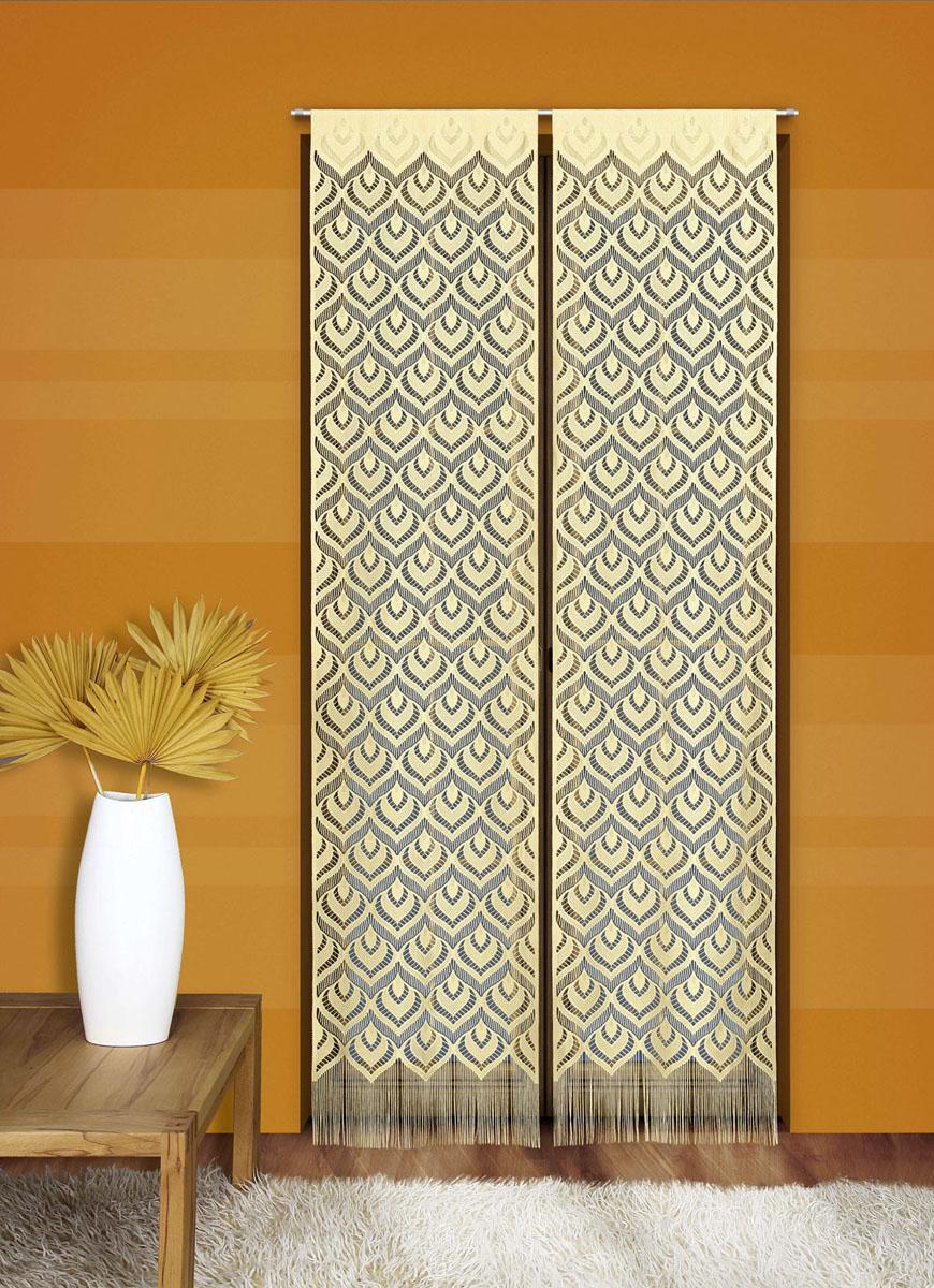 Гардина-панно Wisan Mozaika, на кулиске, цвет: желтый, высота 240 см711147Воздушная гардина-панно Wisan Mozaika, изготовленная из полиэстера, станет великолепным украшением любого окна. Тонкое плетение, оригинальный принт привлекут к себе внимание и органично впишутся в интерьер комнаты. Верхняя часть гардины оснащена кулиской для крепления на круглый карниз.В комплект входит: Гардина-панно (50 см х 240 см): 1 шт. Высота кулиски: 5,5 см.