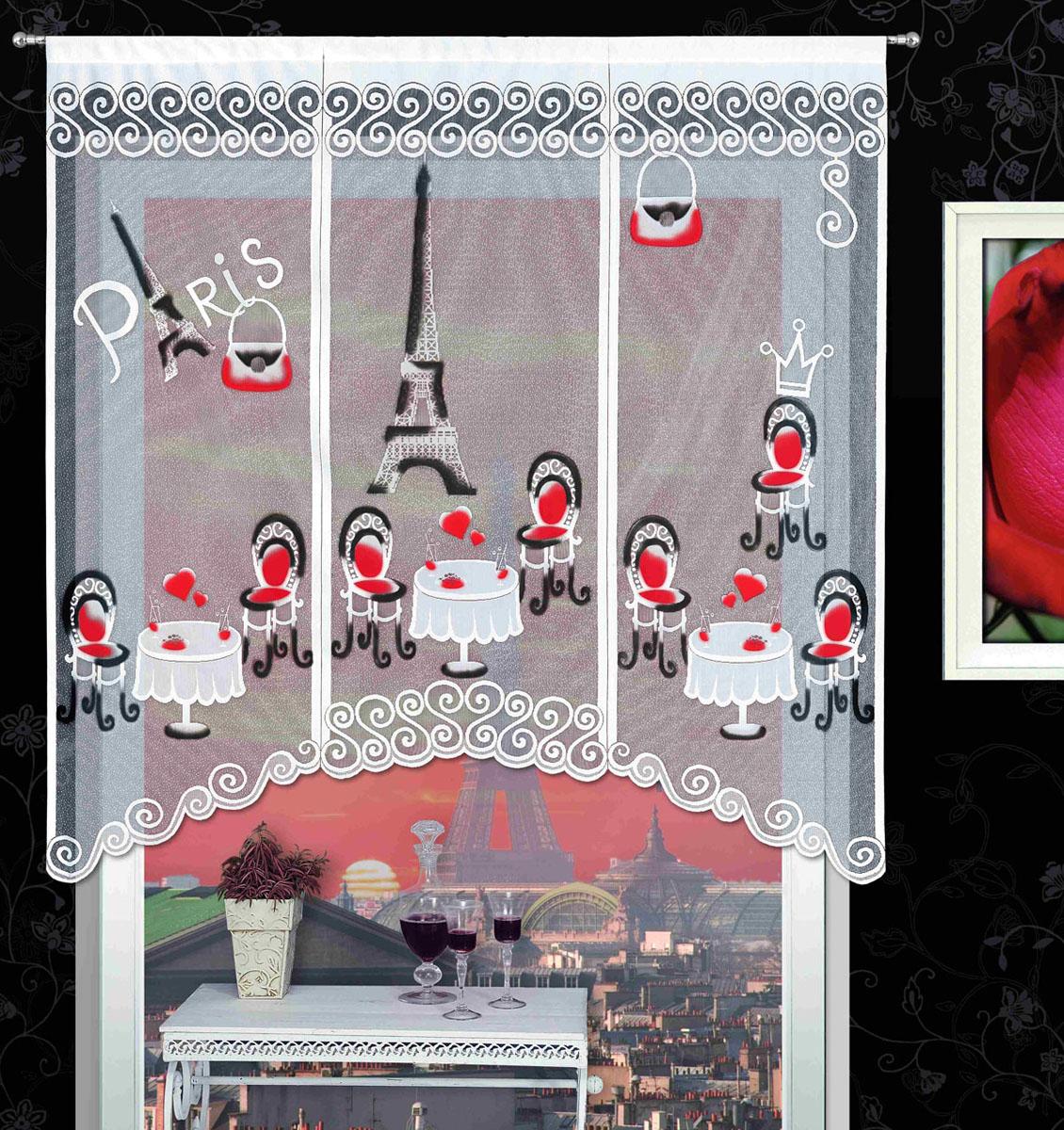 Гардина Kawiarenki, на кулиске, цвет: белый, высота 180 см718726Воздушная гардина Kawiarenki, изготовленная из полиэстера белого цвета, станет великолепным украшением любого окна. Оригинальный принт в виде кафе на фоне Эйфелевой башни привлечет к себе внимание и органично впишется в интерьер комнаты. Гардина оснащена кулиской для крепления на круглый карниз. Характеристики:Материал: 100% полиэстер. Размер упаковки:27 см х 34 см х 3 см. Артикул: 718726.В комплект входит:Гардина - 1 шт. Размер (Ш х В): 150 см х 180 см. Фирма Wisan на польском рынке существует уже более пятидесяти лет и является одной из лучших польских фабрик по производству штор и тканей. Ассортимент фирмы представлен готовыми комплектами штор для гостиной, детской, кухни, а также текстилем для кухни (скатерти, салфетки, дорожки, кухонные занавески). Модельный ряд отличает оригинальный дизайн, высокое качество. Ассортимент продукции постоянно пополняется.