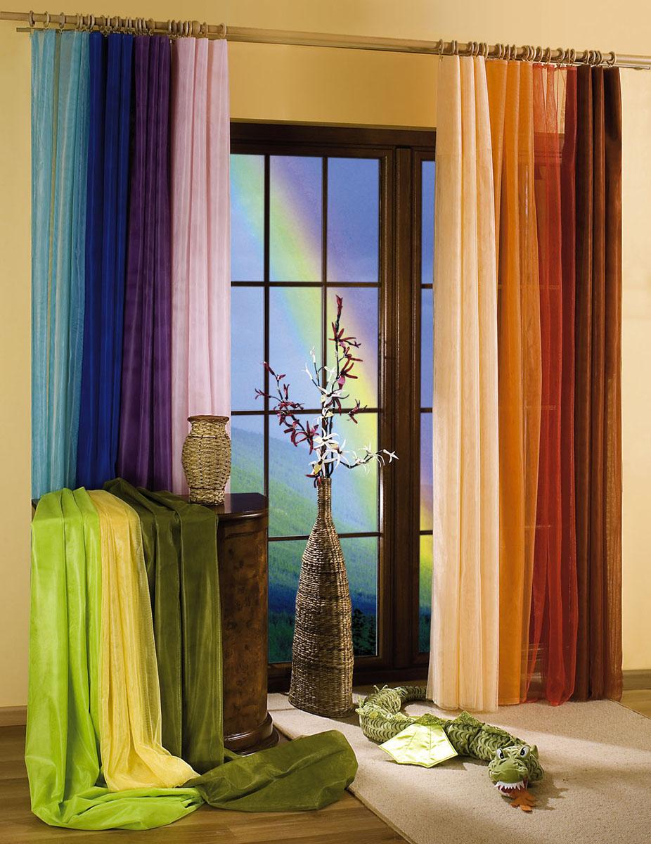"""Воздушная гардина-тюль """"Wisan"""", изготовленная из полиэстера оранжевого цвета, станет великолепным украшением любого окна. Тонкое плетение, оригинальный дизайн и приятная цветовая гамма привлекут к себе внимание и органично впишутся в интерьер комнаты. В гардину-тюль вшита шторная лента. Фирма """"Wisan"""" на польском рынке существует уже более пятидесяти лет и является одной из лучших польских фабрик по производству штор и тканей. Ассортимент фирмы представлен готовыми комплектами штор для гостиной, детской, кухни, а также текстилем для кухни (скатерти, салфетки, дорожки, кухонные занавески). Модельный ряд отличает оригинальный дизайн, высокое качество.  Ассортимент продукции постоянно пополняется. Характеристики:Материал: 100% полиэстер. Цвет: оранжевый. Размер упаковки:  26 см х 1 см х 35 см. Артикул: 729180.В комплект входит:  Гардина-тюль - 1 шт. Размер (ШхВ): 150 см х 250 см.  УВАЖАЕМЫЕ КЛИЕНТЫ!  Обращаем ваше внимание на цвет изделия. Цветовой вариант комплекта, данного в интерьере, служит для визуального восприятия товара. Цветовая гамма данного комплекта представлена на отдельном изображении фрагментом ткани."""