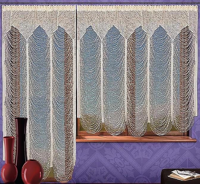 Комплект гардин для балкона Wisan, на ленте, цвет: шампань, высота 250 см