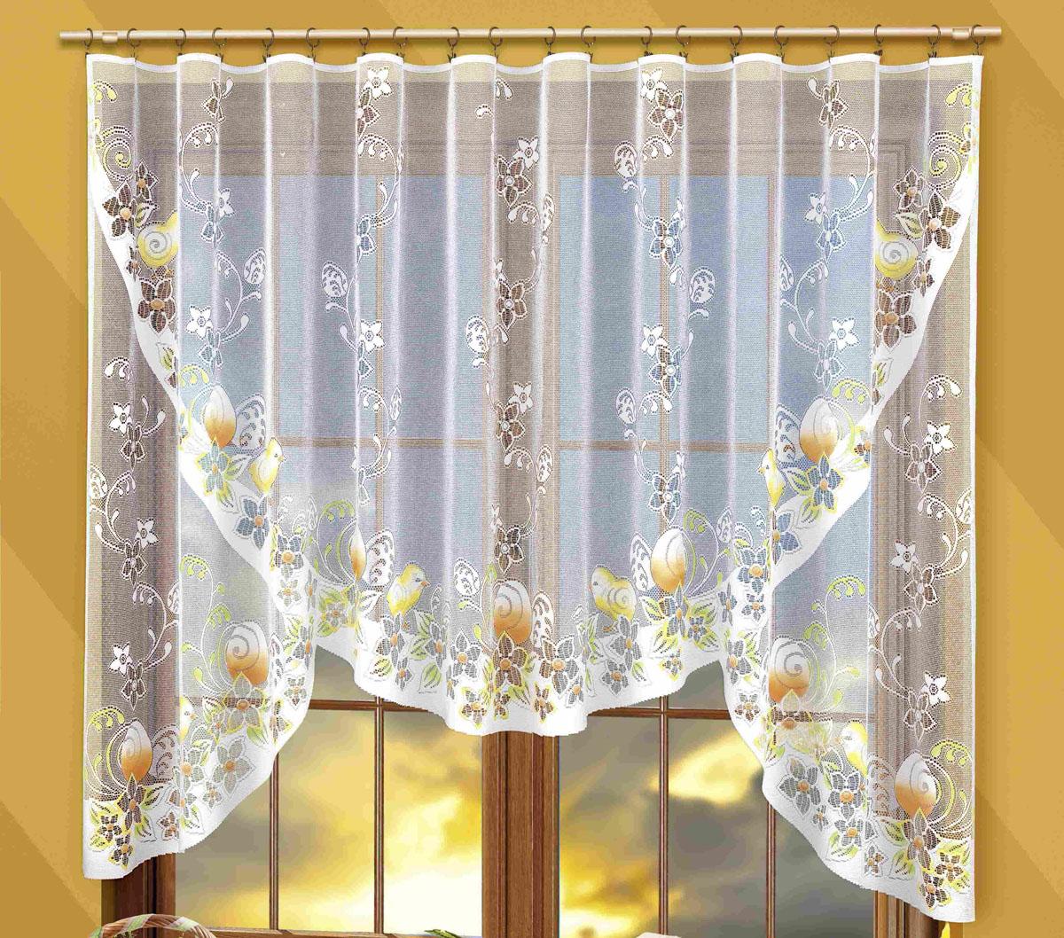 Гардина Wielkanoc, на ленте, цвет: белый, высота 160 см748365Гардина Wielkanoc, выполненная из легкого полиэстера белого цвета, станет великолепным украшением любого окна. Тонкое плетение, оригинальное исполнение и нежная цветовая гамма привлекут внимание и украсят интерьер помещения. Гардина оснащена шторной лентой для крепления на карниз. Характеристики:Материал: 100% полиэстер. Цвет: белый. Размер упаковки:25 см х 33 см х 3 см. Артикул: 748365.В комплект входит: Гардина - 1 шт. Размер (ШхВ): 300 см х 160 см. Фирма Wisan на польском рынке существует уже более пятидесяти лет и является одной из лучших польских фабрик по производству штор и тканей. Ассортимент фирмы представлен готовыми комплектами штор для гостиной, детской, кухни, а также текстилем для кухни (скатерти, салфетки, дорожки, кухонные занавески). Модельный ряд отличает оригинальный дизайн, высокое качество. Ассортимент продукции постоянно пополняется.