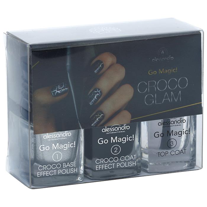 Alessandro Набор лаков для ногтей Croco Glam, 3х5 мл. 20-630 зеркало croco 220 х 80 см