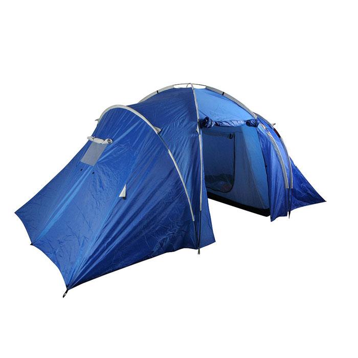 Палатка четырехместная Columbus KANSAS двухслойная; цвет: синий2742Четырехместная палатка Columbus KANSAS с двумя спальными помещениями расположенными напротив друг друга и соединенными большим тамбуром. Рассчитана на четыре спальных места, поэтому с ней можно отправляться на природу вместе с семьей или друзьями. Внутренние палатки можно при необходимости отстегнуть, и использовать пространство под тентом как одно помещение, или как 2-х местная палатка с отдельным помещением. Специальные оконные отверстия гарантируют нормальный воздухообмен. Широкий вход позволяет свободно заходить в палатку.Просмотреть видео-инструкцию по сборке палатки вы можете здесь http://www.big-game.spb.ru/brands/columbus/ Характеристики: Вместимость: 4 человека. Размер палатки в разложенном виде (ДхШхВ): 470 см х 240 см х 190 см. Наружный тент: полиэстер 75D 190Т, PU 2000 мм. Внутренняя палатка: полиэстер 170Т. Дно: терпаулинг, PU 10000 мм. Каркас:дуги из фибергласа диаметром 8,5 мм и 9,5 мм. Вес:7250 г. Размер в сложенном виде: 61 см х 22 см х 22 см. Изготовитель:Китай. Артикул: 2742.