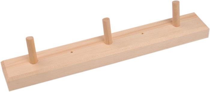 Вешалка Доктор Баня горизонтальная, 3 крючка904450Горизонтальная вешалка Доктор Баня, изготовлена из дерева. На вешалку можно вешать полотенца или любые другие вещи.Она будет отлично смотреться в бане, сауне или любом другом помещении. Вешалка не имеет готового крепежа или отверстий для шурупов. Характеристики:Размеры вешалки: 25 см. Материал: дерево (береза). Артикул: 904450.