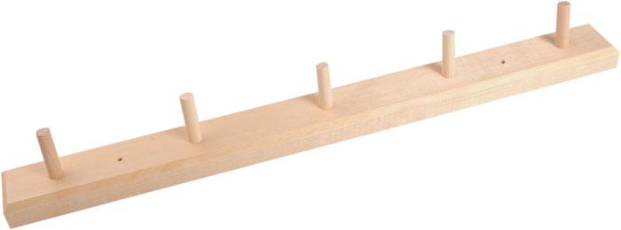 Вешалка Доктор Баня горизонтальная, 5 крючков904451Горизонтальная вешалка Доктор Баня изготовлена из натурального дерева березы. На вешалку можно вешать полотенца или любые другие вещи. Она будет отлично смотреться в бане, сауне или любом другом помещении.Вешалка не имеет готового крепежа или отверстий для шурупов. Характеристики: Материал: дерево (береза). Размер вешалки (Д х Ш х Г): 48 см х 4,5 см х 2,5 см. Длина крючка: 3,5 см. Артикул: 904451.