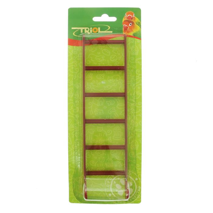 Лестница для птиц Triol, 6 х 23 см клетка triol n 1601цинк для птиц 34 5 26 44см