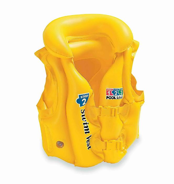Детский надувной жилет Intex Делюкс Пул Скул, цвет: желтый, 50 см х 47 смint58660EUДетский надувной жилет Intex Делюкс Пул Скул предназначен для плавания и отдыха на воде. Жилет выполнен из прочного ПВХ желтого цвета и оснащен тремя воздушными отсеками, включая надувной воротник, и двумя регулируемыми ремнями с пластиковыми карабинами.С помощью надувного жилета Intex Делюкс Пул Скул ваш ребенок сможет быстро и без страха научиться плавать и держаться на воде. Гарантия производителя: 30 дней. Характеристики:Размер жилета: 50 см х 47 см. Размер упаковки: 12,5 см х 4 см х 19 см.УВАЖАЕМЫЕ КЛИЕНТЫ! Просим вас обратить внимание на тот факт, что жилет поставляется в сдутом виде.