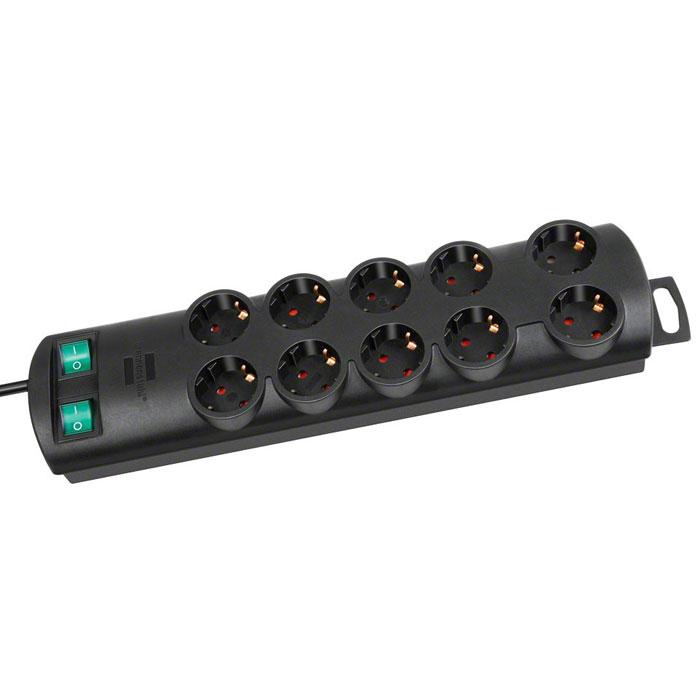 Brennenstuhl Primera-Line удлинитель на 10 розеток, Black1153300120Удлинитель на 10 розеток Brennenstuhl Primera-Line с возможностью выведения кабеля с разных сторон устройства.Кабельный зажим для хранения излишков кабеляУдобное расстояние между розеткамиВозможность настенного монтажаРозетки защищены от детейДвухполюсный выключательТип кабеля: H05VV-F 3G1,5