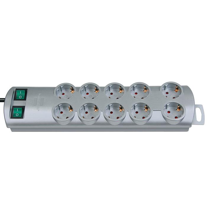 все цены на  Brennenstuhl Primera-Line удлинитель на 10 розеток, Silver  онлайн