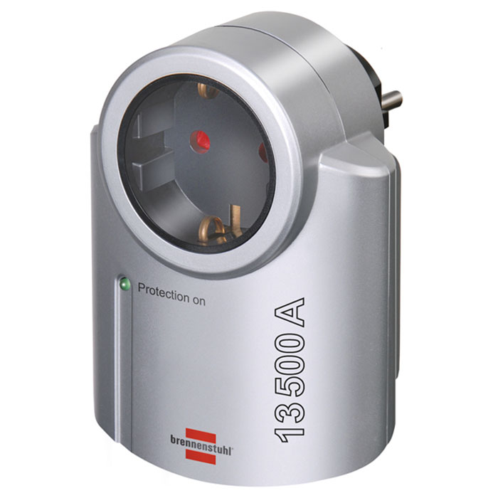 Brennenstuhl Primera-Line Surge Protected Adapter сетевой фильтр, 13500 А brennenstuhl primera tec automatic extension socket сетевой фильтр white