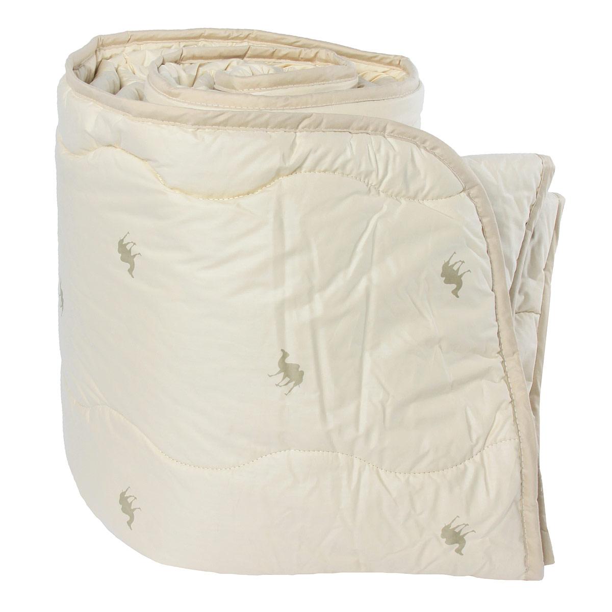 """Одеяло """"Verossa"""" обеспечит вам здоровый сон и комфорт.Для изготовления одеяла в качестве наполнителя используется натуральная верблюжья шерсть. Верблюжья шерсть обладает высокой гигроскопичностью, создавая эффект """"сухого тепла"""". Волокно верблюжьей шерсти полые внутри, образуют пласт, содержащий множество воздушных кармашков, которые равномерно сохраняют и распределяют тепло, обеспечивая естественную терморегуляцию в жару и холод. Верблюжья шерсть обладает рядом уникальных лечебных свойств, благодаря которым расширяются сосуды, усиливается микроциркуляция крови. Шерсть снимает статическое напряжение, благоприятно воздействует на оппорно-двигательный аппарат.Одеяло упаковано в прозрачный пластиковый чехол на змейке с ручкой, что является чрезвычайно удобным при переноске. Характеристики: Материал чехла: 100% хлопок. Наполнитель: 100% верблюжья шерсть. Масса наполнителя: 300 г/м2. Размер одеяла: 200 см х 220 см. Артикул: 170584."""