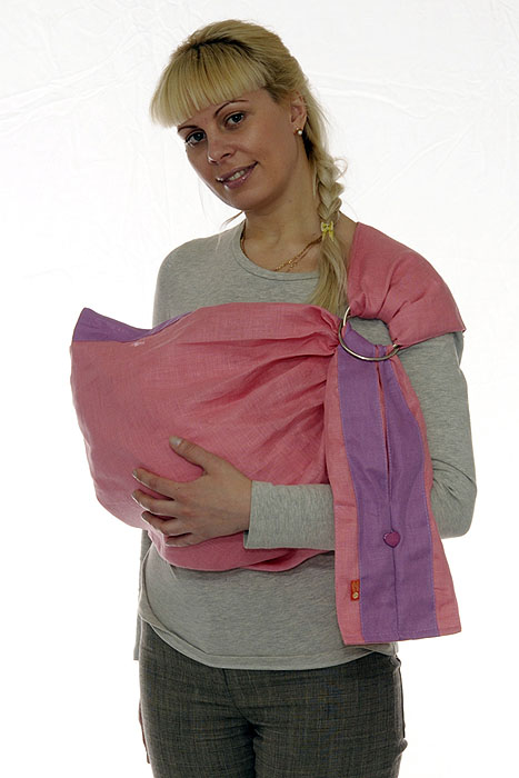 Слинг с кольцами Лен комби, цвет: розовый, сиреневый. Размер S торшер kombi 1704 1f favourite 1143982