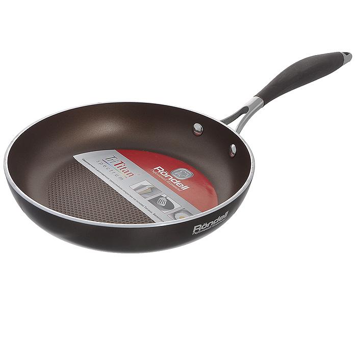 Сковорода Rondell Mocco, с антипригарным покрытием. Диаметр 24 см крышка rondell mocco диаметр 28 см