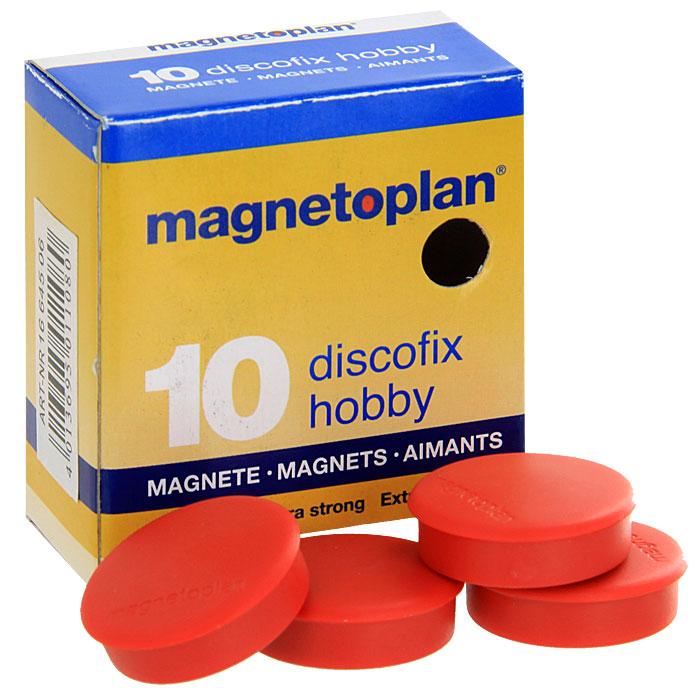 Набор магнитов Magnetoplan  Hobby , цвет: красный, 10 шт -  Аксессуары для досок и флипчартов