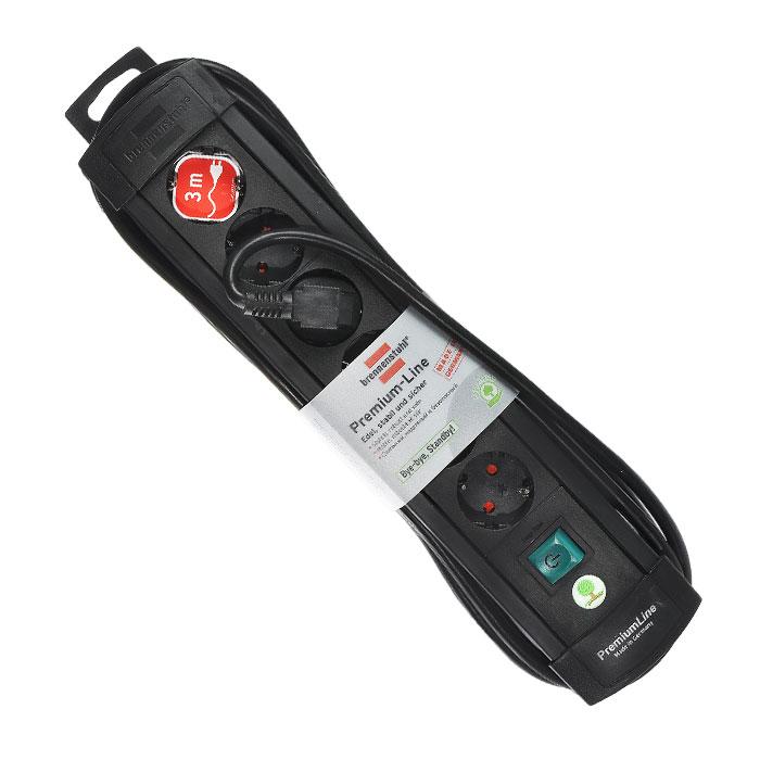 Brennenstuhl Premium-Line удлинитель на 6 розеток 3 м, Black1756110016Удлинитель на 6 розеток Brennenstuhl Premium-Line предназначен для подключения различных приборов и устройств к электросети. Надежные гнезда розеток сделаны из специального ударопрочного пластика.Все розетки заземлены и расположены под углом 45°Возможность намотки кабеля для храненияРозетки с защитой от детейТип кабеля: H05VV-F 3G1,5