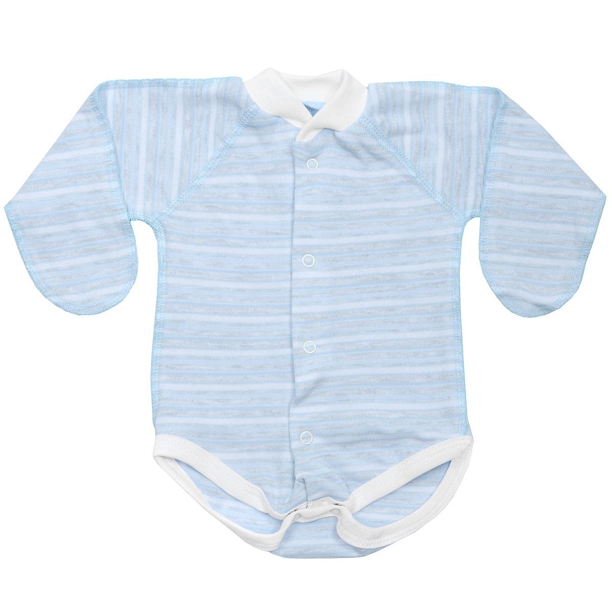 Боди детское Фреш стайл, цвет: голубой 37-329. Размер 50, 0-1 месяц красное боди emma xxl 3xl