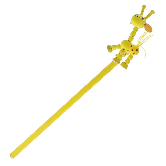 Карамба Карандаш чернографитный Жираф цвет желтый фиксатор гибкий storage цвет черный желтый длина 86 см