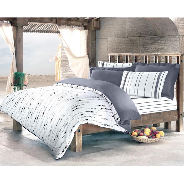 Комплект белья Tete-a-tete Николетта (1,5 спальный КПБ, сатин премиум, наволочки 70х70), цвет: белый. Т-0042-01Т-0042-01_1,5-спальныйКомплект постельного белья Николетта является экологически безопасным для всей семьи, так как выполнен из натурального хлопка. Комплект состоит из пододеяльника, простыни и двух наволочек. Постельное белье оформлено оригинальным рисунком и имеет изысканный внешний вид. Все предметы комплекта цельнокроеные. Вас поразит необыкновенная тонкость, почти воздушная легкость и невероятная шелковистость этой специальной ткани, которая еще усилится после стирки. Ненавязчивые цвета хорошо примут наложение любого другого оттенка, при любом освещении. Ваша постель будет выглядеть безупречно. Наволочки имеют клапан без пуговиц и молнии.Пододеяльникимеет молнию на нижнем конце. Молния имеет фиксаторы, не позволяющие расстегиваться ей до самого конца, а сама она очень прочная и состоит из одной эргономичной детали, что не позволит ей сломаться легко.Сатин - производится из высших сортов хлопка, а своим блеском, легкостью и на ощупь напоминает шелк. Такая ткань рассчитана на 200 стирок и более. Постельное белье из сатина превращает жаркие летние ночи в прохладные и освежающие, а холодные зимние - в теплые и согревающие. Благодаря натуральному хлопку, комплект постельного белья из сатина приобретает способность пропускать воздух, давая возможность телу дышать. Одно из преимуществ материала в том, что он практически не мнется и ваша спальня всегда будет аккуратной и нарядной. Рекомендации по уходу:стирать изделия, вывернув их наизнанку (особенно это касаетсяизделий с фурнитурой), при температуре до 30°C, c использованием современных высокотехнологичных порошков, щадящими отбеливателями без хлора, мягкими кондиционерами, смягчителями для воды, если она у вас жесткая, щадящим режимом отжима и сушки, без химчистки. Характеристики: Материал: премиум-сатин (100% хлопок). Размер упаковки: 34 см х 7 см х 53 см. В комплект входят: Пододеяльник - 1 шт. Размер: 15