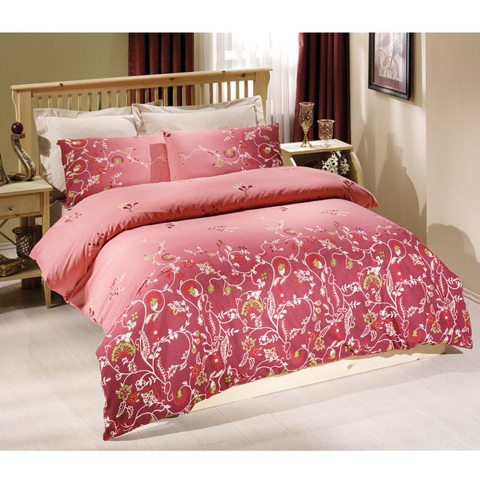 "Комплект белья Tete-a-tete ""Летиция"" (2-х спальный КПБ, сатин премиум, наволочки 70х70, 50х70), цвет: розовый. Т-0040-01"