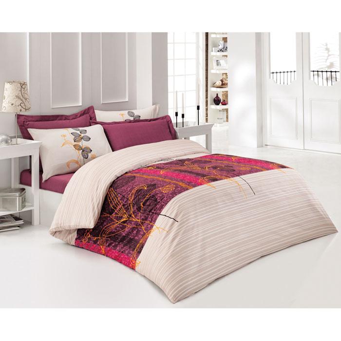 Комплект белья Tete-a-tete Кармин (1,5 спальный КПБ, сатин премиум, наволочки 70х70), цвет: бордовый. Т-0038-01Т-0038-01_1,5-спальныйКомплект постельного белья Кармин  является экологически безопасным для всей семьи, так как выполнен из натурального хлопка. Комплект состоит из пододеяльника, простыни и двух наволочек. Постельное белье оформлено оригинальным рисунком и имеет изысканный внешний вид. Все предметы комплекта цельнокроеные. Вас поразит необыкновенная тонкость, почти воздушная легкость и невероятная шелковистость этой специальной ткани, которая еще усилится после стирки. Ненавязчивые цвета хорошо примут наложение любого другого оттенка, при любом освещении. Ваша постель будет выглядеть безупречно.Наволочки имеют клапан без пуговиц и молнии.Пододеяльникимеет молнию на нижнем конце. Молния имеет фиксаторы, не позволяющие расстегиваться ей до самого конца, а сама она очень прочная и состоит из одной эргономичной детали, что не позволит ей сломаться легко.Сатин - производится из высших сортов хлопка, а своим блеском, легкостью и на ощупь напоминает шелк. Такая ткань рассчитана на 200 стирок и более. Постельное белье из сатина превращает жаркие летние ночи в прохладные и освежающие, а холодные зимние - в теплые и согревающие. Благодаря натуральному хлопку, комплект постельного белья из сатина приобретает способность пропускать воздух, давая возможность телу дышать. Одно из преимуществ материала в том, что он практически не мнется и ваша спальня всегда будет аккуратной и нарядной. Рекомендации по уходу:стирать изделия, вывернув их наизнанку (особенно это касаетсяизделий с фурнитурой), при температуре до 30, c использованием современных высокотехнологичных порошков, щадящими отбеливателями без хлора, мягкими кондиционерами, смягчителями для воды, если она у вас жесткая, щадящим режимом отжима и сушки, без химчистки. Характеристики: Материал: премиум-сатин (100% хлопок). Плотность: 155 г/м2. Размер упаковки: 34 см х 7 см х 53 см. В комплект входят: Пододеяльник - 