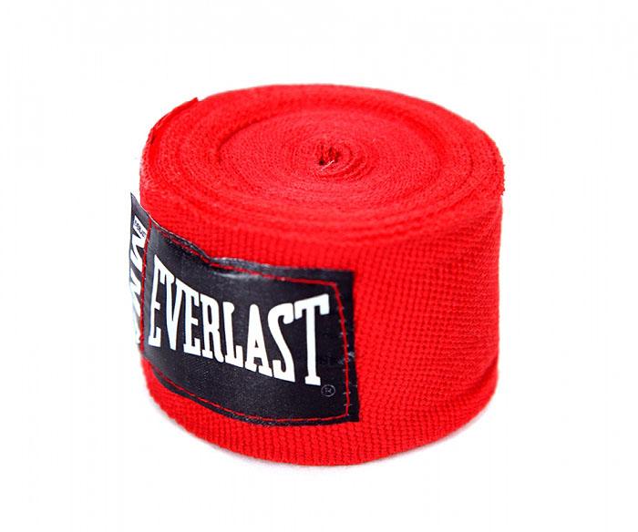 Бинты боксерские эластичные Everlast MMA, длина 2,54 м, цвет: красный