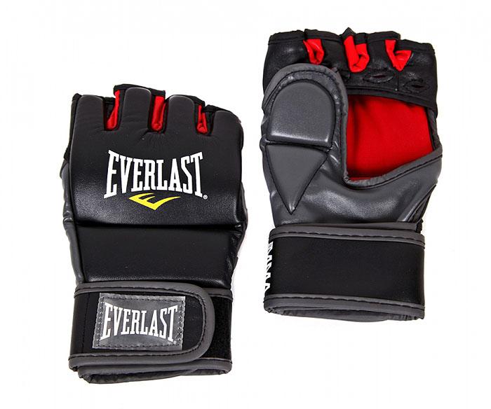 Перчатки тренировочные Everlast Grappling, цвет: черный, красный. Размер L/XL7778BLXLUТренировочные перчатки для отработки захватов и ударов.Высококачественный кожзаменитель наряду спревосходным дизайном гарантируют долговечность ифункциональность перчаток. Обмотки с застежкой налипучке позволяют подогнать перчатки по вашей руке, атакже обеспечивают максимальную фиксацию запястья.Защита большого пальца специально сделана из двухсекций для полной свободы движения.Ширина манжеты: 9 см. Общая длина перчатки: 22 см. Ширина (с учетом большого пальца): 14 см.