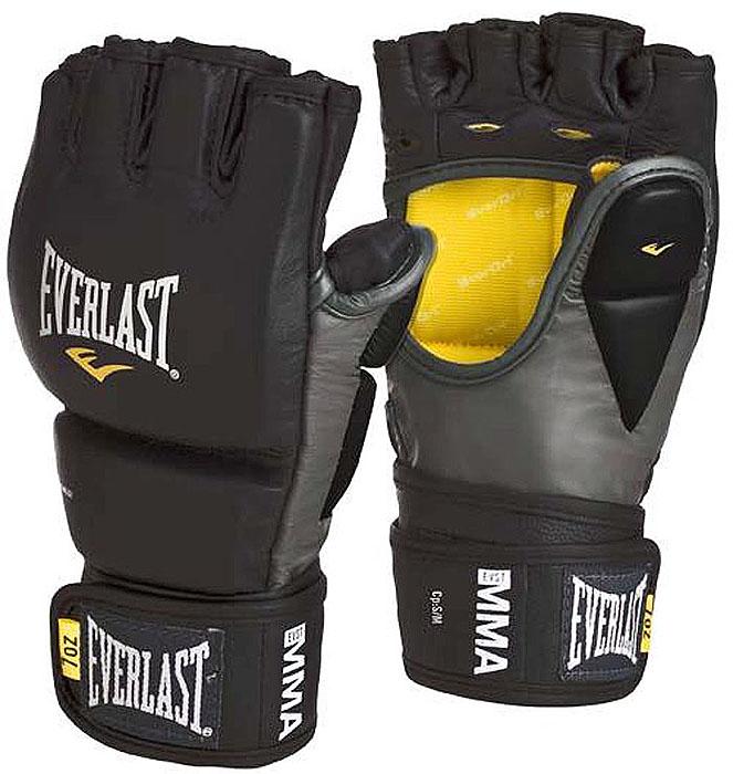 Перчатки тренировочные Everlast MMA, цвет: черный, серый, 7 унций. Размер S/M