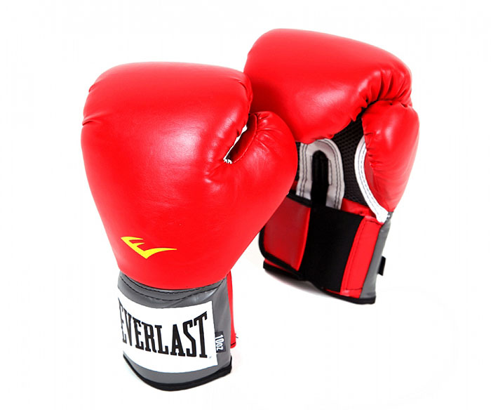 Перчатки тренировочные Everlast Pro Style Anti-MB, 10 унций, цвет: красный перчатки тренировочные everlast pro style elite цвет черный 16 унций