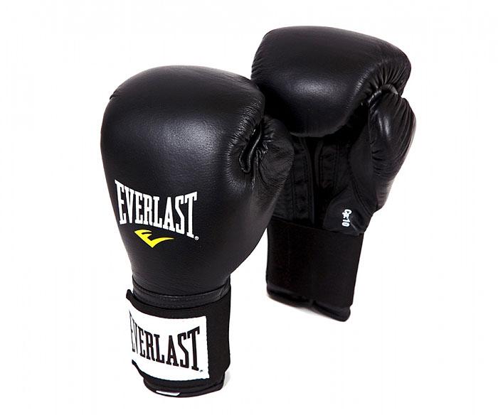 """Перчатки тренировочные Everlast """"Pro"""", 14 унций, цвет: черный"""