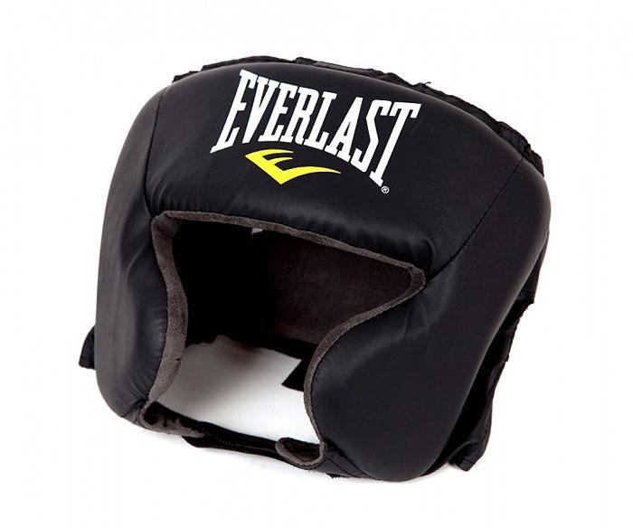 Шлем боксерский Everlast Durahide, тренировочный. Обхват головый 54-62 см боксерский шлем