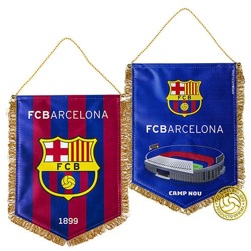 Вымпел FC Barcelona, 30 см х 22 см. 158250158250Вымпел с эмблемой футбольного клуба Barcelona.Двусторонний мягкий вымпел на металлическом стержне с металлическими наконечниками. С одной стороны вымпела изображен логотип ФК Barcelona, а с другой футбольное поле. Материал: полиэстер. Размер вымпела: 30 см х 22 см. Размер упаковки: 30 см х 25 см х 1 см.