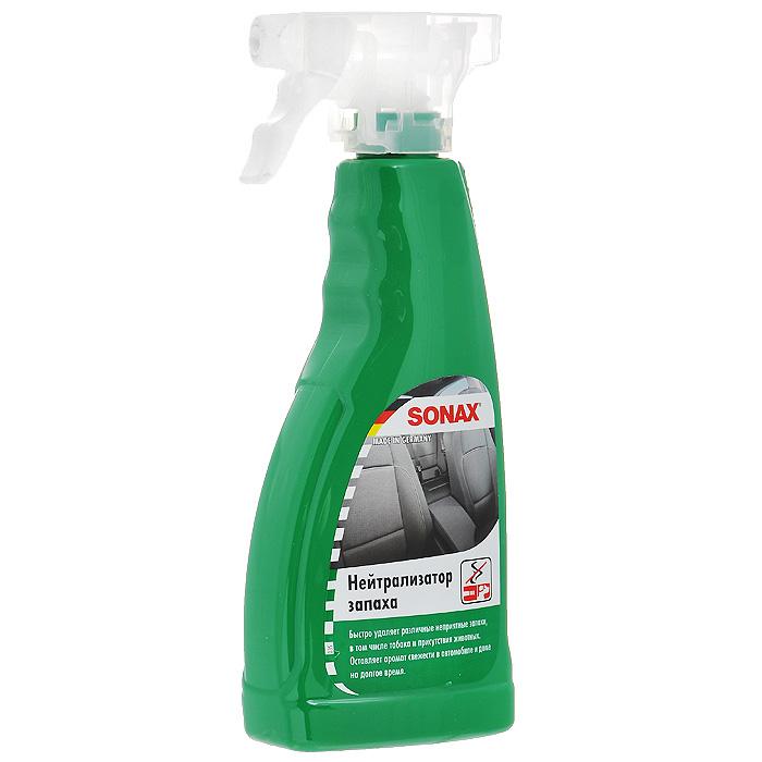 Нейтрализатор запаха Sonax, 500 мл292241Нейтрализатор запаха Sonax удаляет неприятные запахи (животных, табака) в салоне автомобиля. В отличии от обычных освежителей воздуха не маскирует неприятные запахи, а полностью их удаляет. Благодаря смеси дезодорирующих веществ обеспечивает аромат свежести в салоне. Кроме распыления в воздухе может наноситься непосредственно на обивку, текстиль, ковровые покрытия.Подходит для использования в быту. Характеристики: Объем: 500 мл. Артикул: 292241. Товар сертифицирован.