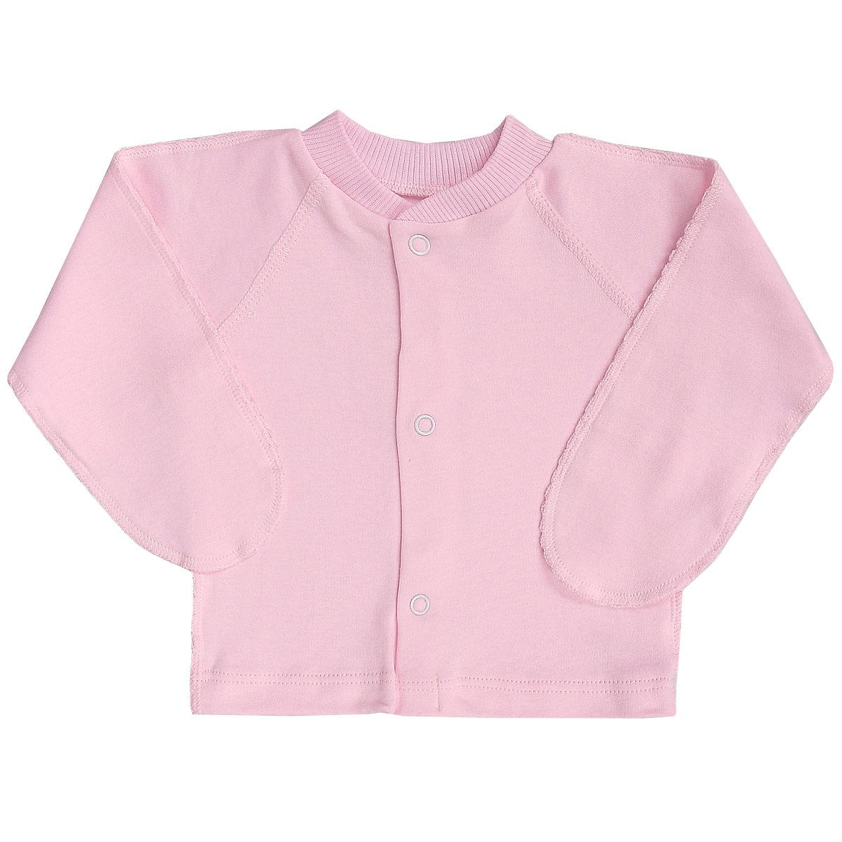 Кофточка детская Фреш стайл, цвет: розовый. 37-203. Размер 6237-203Кофточка с закрытыми ручками Фреш Стайл послужит идеальным дополнением к гардеробу малыша. Кофточка, выполненная швами наружу, изготовлена из натурального хлопка, благодаря чему она необычайно мягкая и легкая, не раздражает нежную кожу ребенка и хорошо вентилируется, а эластичные швы приятны телу малыша и не препятствуют его движениям. Кофточка застегивается на кнопочки по всей длине, которые помогают легко переодеть младенца. Благодаря рукавичкам ребенок не поцарапает себя.В такой кофточке ваш ребенок будет чувствовать себя комфортно и уютно.
