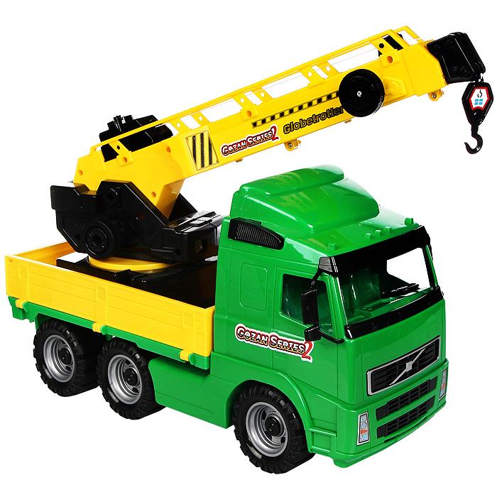 Автомобиль-кран Globetrotter, с поворотной платформой автомобиль кран полесье mammoet с поворотной платформой 56771