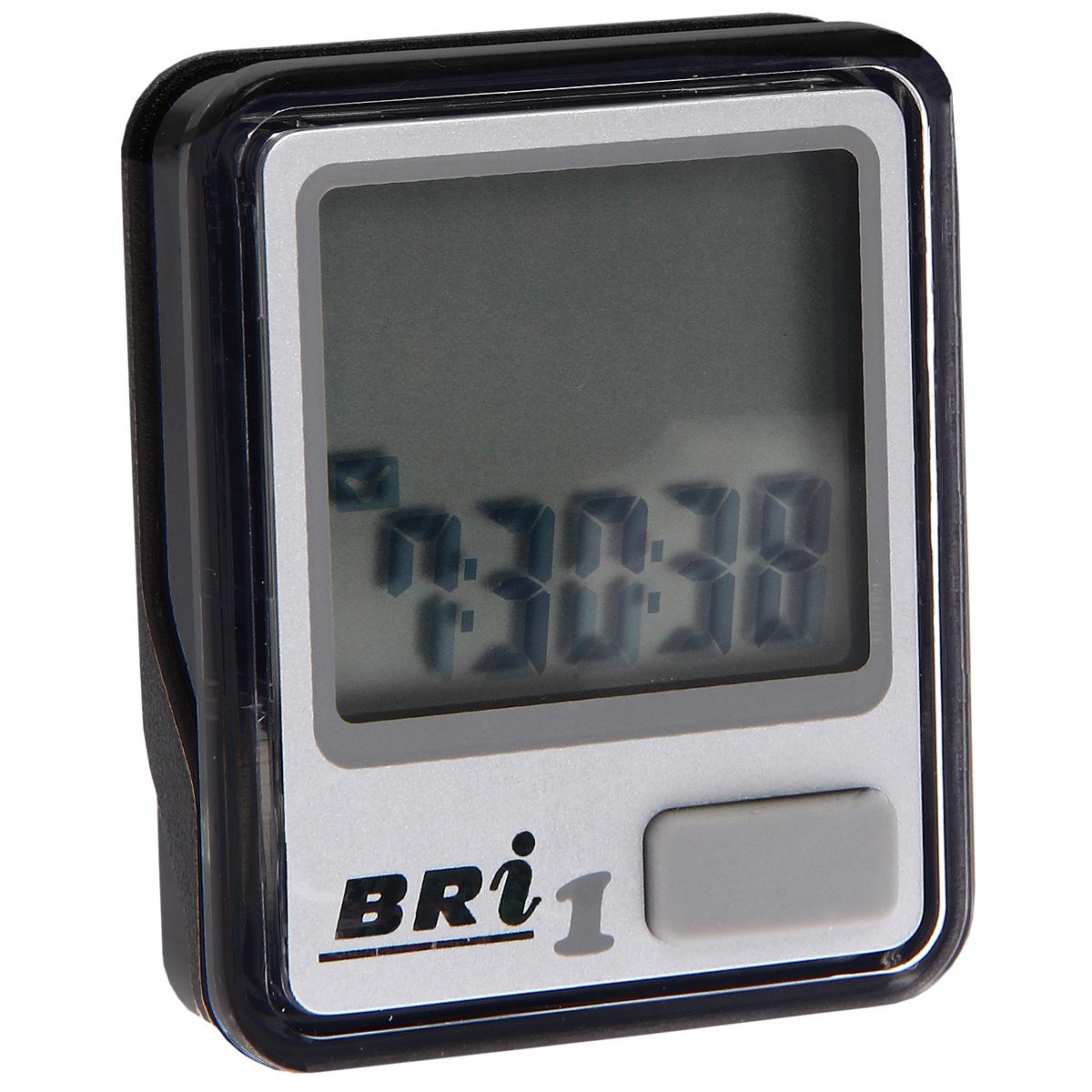 Велокомпьютер BRi-1, 5 функций, цвет: серебряный30238Велокомпьютер BRi-1 - это удобный и простой в использовании электронный прибор, предоставляющий велосипедисту всю необходимую информацию о поездке. Велокомпьютер состоит из двух частей соединенных проводом - дисплея, внешне похожего на электронные часы и датчика скорости. Дисплей крепится на руле с возможностью мгновенно отсоединить его, когда нет желания оставлять на велосипеде без присмотра или под дождем. Магнитный датчик скорости (геркон) крепится рядом с колесом. Принцип работы велокомпьютера довольно прост - программа за минуту настраивается на размер колеса велосипеда и начинает во время поездки считать за какое время колесо совершило полный оборот. Зная эти два параметра процессор может мгновенно высчитывать и выдавать на дисплей все требуемые параметры поездки. Характеристики:Материал: пластик, металл. Размер велокомпьютера: 3,7 см х 4,6 см х 1,5 см. Размер монитора: 2,7 см х 2,4 см. Размер упаковки: 7,2 см х 11,5 см х 6,3 см. Производитель: Китай.Гид по велоаксессуарам. Статья OZON Гид