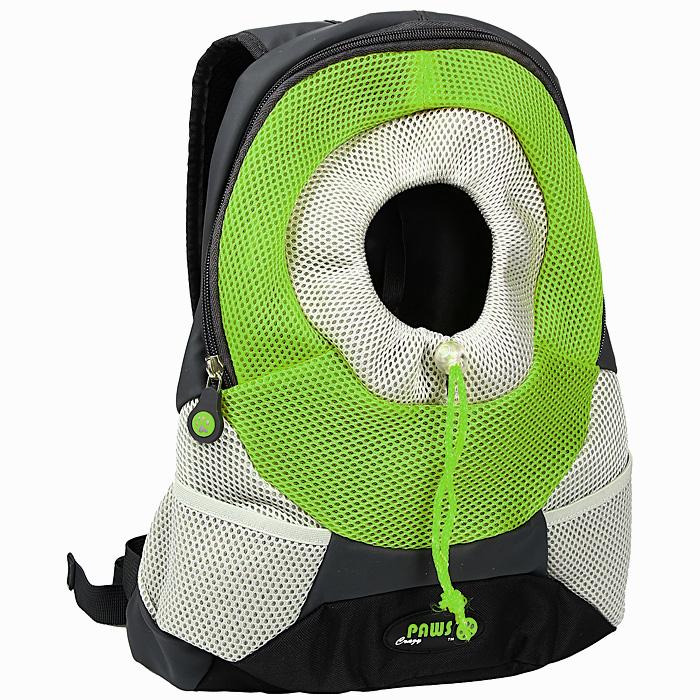 Переноска-рюкзак Crazy Paws для собак и кошек, цвет: зеленый, серый. Размер SmallDPETC 021-GNПереноска-рюкзак Crazy Paws прекрасно подойдет для кошек и собак мелких пород весом до 3 кг. Она изготовлена из высокотехнологичных материалов наивысшего качества, которые безопасны для животных и их владельцев. В такой переноске нет кривых швов и торчащих ниток, так как все элементы максимально точно подогнаны друг к другу. Вашему питомцу будет комфортно.Переноска Crazy Paws серии Pet Sling - это новейшее решение для переноски мелких домашних животных. Рюкзак позволит вам освободить свои руки и снять нагрузку со спинных мышц за счет правильного распределения веса собаки на ваши плечи. При этом животное будет находиться в удобном для него положении и комфортном состоянии за счет хорошей вентиляции. Этот вид переноски абсолютно безопасен и даже полезен для вас и для вашего любимца, за счет специальной анатомической формы рюкзака у животного снимается нагрузка с позвоночника. Животное надежно зафиксировано вшитым карабином за ошейник, а также специальным регулируемым воротником, который не позволит животному вылезти из рюкзака. Плечевые ремни очень мягкие и регулируются по длине.