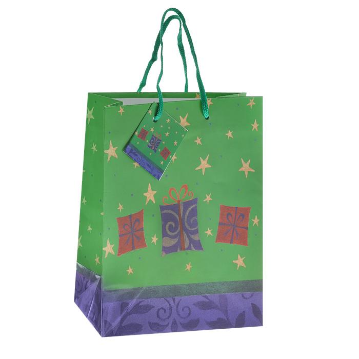 Пакет подарочный Подарки, 18 см х 23 см х 10 см. Ф21-1431/24 пакет подарочный ромбы 18 см х 23 см х 10 см ф21 1459